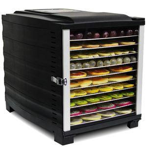 10 couches Séchoir en acier inoxydable ménage Déshydraté Légumes Viande Collations d'animaux de compagnie Fruits de fruits de fruits de fruits secs 110v 220V