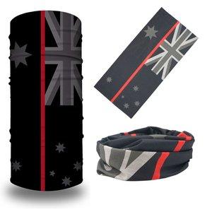 Free Shipping Outdoor Bandana Head Wrap Seamless Bandana Face Mask Black Color Australian Flag Bandana Scarves
