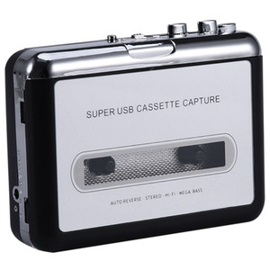12V USB Cassette Tape Player para CD MP3 PC Switcher Converter captura o leitor de música com auscultadores