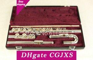 Júpiter Jfl -5011e C Tune flauta 16 teclas agujeros Jefes cerrado flauta de plata plateado Flauta con el caso y Pequeño curvas Marca de instrumentos musicales