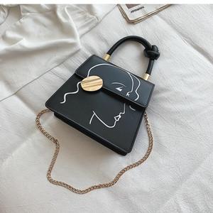 2020 new brand Casual Cartoon Pattern Women Crossbody Bags Designer Handbags Luxury Pu Leather Chains Shoulder Bag Small Flap Lady Purses