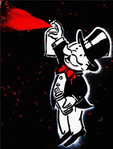 Alec Monopoly Banksy Graffiti arte lata de aerosol Hombre Decoración pintado a mano de la impresión de HD pintura al óleo sobre lienzo arte de la pared de la lona representa 200818