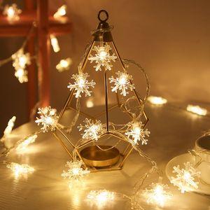 3M 20LED flocon de neige de lumières Snow Fairy Guirlande Décoration Pour Sapin de Noël Bonne année fée alimenté par batterie Lumière