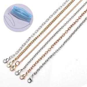 Маска для лица Lanyard Anti-Loss Metal Lanyard Glassses Chain Hang On шеи Строка противоскольжения Маски Rope HHA1549