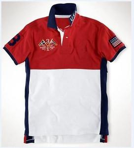 Spring Men Casual Polo Shirts Fashion T-Shirt Cotton Big Horse Embroidered Germany Spain Swiss Australia United States United Kingdom Polos