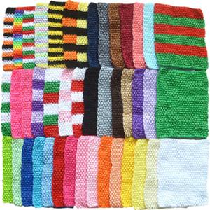 43 colores de la niña de 9 pulgadas elástico del abrigo del pecho infantil ganchillo de la galleta venda del bebé Rayón Tutu Tubo chica remata Hairband 23 Cmx20Cm M2653