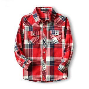 Children Shirts Fashion Classic Casual Plaid Cotton Boys shirts For 3-10 Years Kids Boy Spring Autumn Wear Clothes