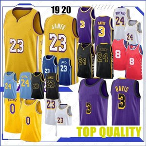 2019 Crenshaw NCAA 23 LeBron James Men Basketball Jersey 3 Anthony Davis 24 Kobe Bryant 0 Kyle Kuzma 100 % 스티치 2019 새로운