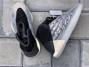 Mais recente Shoes autênticos Quantum Basquetebol Homens Mulheres Mafia EG1535 Kanye West corredor da onda 3M reflexiva Sneakers Sports com caixa original