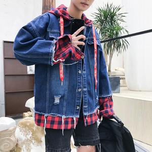 2020 Spring Autumn Men's Fashion Denim Jacket Casual Bomber Jacket Denim Jacket Streetwear Clothes