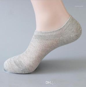 Colore Caviglia Homme respirabile della biancheria intima di modo di stile casual Abbigliamento Uomo Estate Designer Sock pantofole Solid