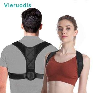 Vieruodis Brace Ceinture de support réglable Correcteur Clavicule Colonne vertébrale Retour épaule Correction lombaire Posture