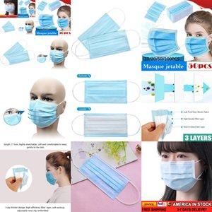 100/50 / 30шт лица Descartável Antipoeira De Proteção Pessoal 3ply Ear Loop LIYZU 1ZPP