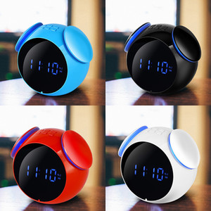 ML-C08 Bluetooth Speaker Portable Wireless Speaker Bass Music Support AUX TF Card FM Radio Alarm Clock