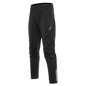 Pantalones de ciclo impermeable de los hombres de paño grueso y suave termal a prueba de viento de invierno para bicicleta riding running Deportes pantalones pantalones