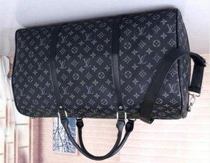 12LVLOUISVUITTONKadınlar Çanta Çanta Gerçek Deri Çiçek Desen Seyahat Bagaj spor çanta varış