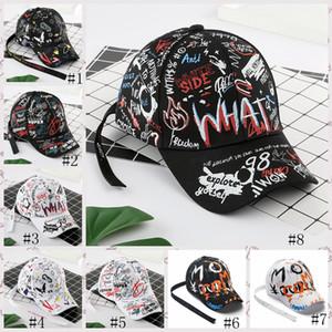 Gorra de béisbol 8styles pintada de la cola larga de hip-hop sombrero de moda al aire libre pintada casquillos del Snapback de Hip Hop los sombreros de béisbol GGA3664-1