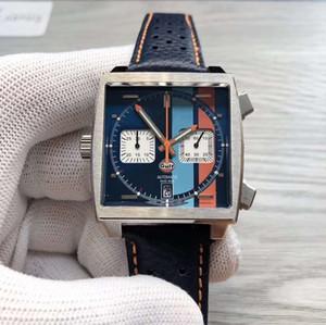 2020 New 10 cores Monaco 24 calibre tag heuer 39 relógio Tag quadrados quartzo de design esportes CAW populares dos homens assistir relógio de pulso