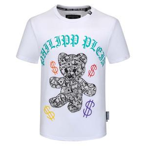 2020 Fashion Casual T Shirt Men Streetwear de luxe de T-shirts pour hommes T-shirts Lettre de broderie Hommes manches courtes T-shirts PP 3XL