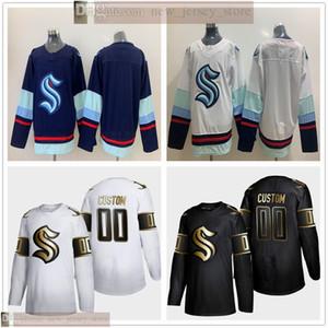Costumbre 2020 2021 Seattle hockey sobre hielo Jersey mejor calidad cosido cualquier nombre de cualquier número 23 Kraken 32th jerseys Hombre Mujeres Jóvenes Niños