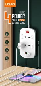 Extensión de plomo lindo USB Power Strip, 4 puertos USB de carga y 4 tiendas de América Europea British Standard regletas de toma de zócalo