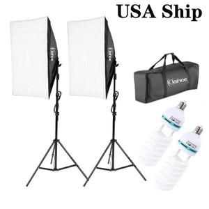 الولايات المتحدة الأمريكية من SHOFT Softbox الإضاءة التصوير الفوتوغرافي، مستمر Softbox Lighting Kit معدات استوديو الصور المهنية مع حامل قابل للتعديل