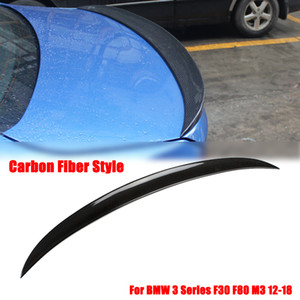 Gloss Black / Carbon-Faser-hintere Stamm-Boot-Spoilerlippe Wings for BMW 3er F30 Aufführung 2012-2018