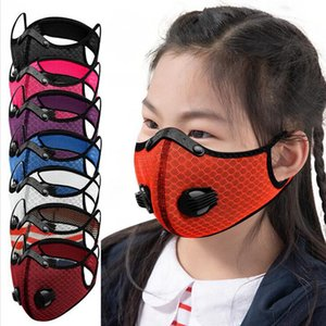 Children Cycling Mask With Detachable Eye Shield Breath Valve Mask Outdoor Dustproof Breathable Protection Removeable Facial Cover LJJP412