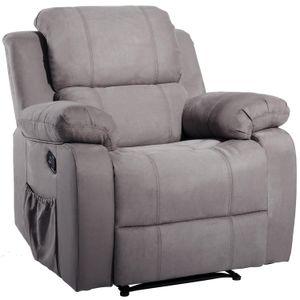 ORIS FUR. Suede Beheizte Massage Recliner Sofa Stuhl Ergonomischer Lounge mit 8 Vibrationsmotoren PP039116EAA