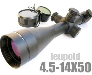LEUPOLD 4.5-14x50 Mark 4 Red and Green Mil-dot Illuminated Rifle Scope Comes With Mounts And Lens Protective Caps Black