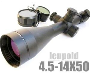 LEUPOLD 4.5-14x50 Mark 4 Rot und Grün Mil-Punkt Illuminated-Gewehr-Bereich geliefert mit Halterungen und Objektivschutz schwarze Kappen