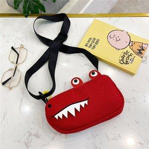 lindo niños y niñas de cocodrilo lona de bebé de 76M1o nuevos niños deberían Tong Bao Tong Bao er bolsa de mensajero accesorios de los niños de Corea