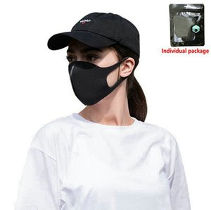 Anti Dust Masks Anti-fog Black Face Mask For Adults Breathable Reusable Dustproof Ice silk Cotton Masks 200000pcs