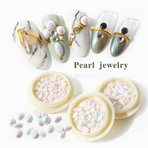 Special-shaped Opal Electroplating AB Flat Bottom 3D Pearl For Decoration Nail Art Accessories Diamond Ornaments Jewelry 15g DIY