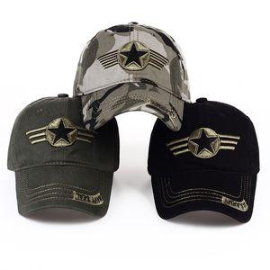 Открытый Охота Камуфляж Бейсболка Американский хлопок вышивка алфавит Повседневный Caps Мужчины Soldier Combat защиты ВС Hat VT1562