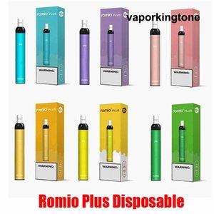 ROMIO PLUS descartável Dispositivo Pod Kit 500mAh Battery 500 Puffs 3 ml Prefilled Cartuchos Vape Esvaziar Pen VS além de ar Bar Vazão XXL DHL
