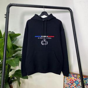 20FW París clásico Corona de la bandera del bordado de la sudadera con capucha de la calle para mujer para hombre Pullover sudaderas otoño invierno suéter Outwear HFYMWY284