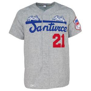 Santurce Cangrejeros 1954 Route Jersey 100% Cousu Broderie Vintage Baseball Jersey personnalisés tout nom Pas de préférence Nombre Livraison gratuite 04