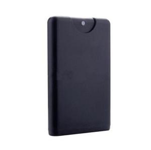 Promotion Leer 20ml Kunststoff Schwarz Kreditkarte Form-Taschen Parfümflasche Frauen kosmetischer Behälter Kleines Spray AHD989