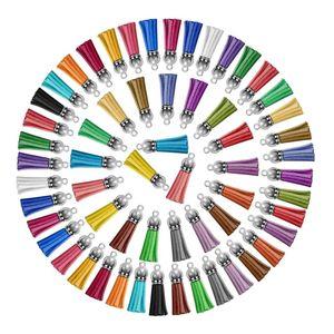 120 Pezzi portachiavi nappe in pelle nappa Portachiavi Anelli Bulk acrilico portachiavi Ammassi di accessori per la casa portachiavi del mestiere di DIY, 30 colori
