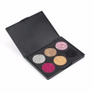 1 pcs POPFEEL EK Series Six-Colored Eyeshadow Palette Glitter Shimmer Highly Pigmented Professional Makeup Tool