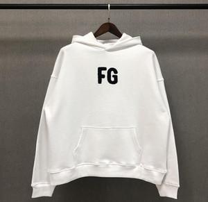 20FW hoodies Automne Hiver Oversize crainte de Dieu FG serviette de broderie à capuche Planche à roulettes lâche Hoodie Fog Sweat à capuche à capuche unisexe