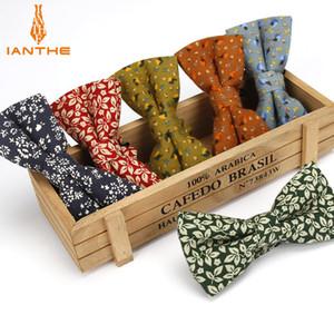 bowtie flor forma bowties impressos Femininos Ianthe gravatas Bow ajustável casamento do homem Laço Masculino Cotton borboleta Gravatás