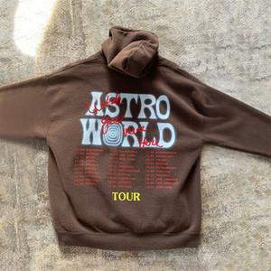 Travis Scott TOUR SICKO MODE Astroworld CAPPUCCIO donne degli uomini Mens di alta qualità Pullover MX200813