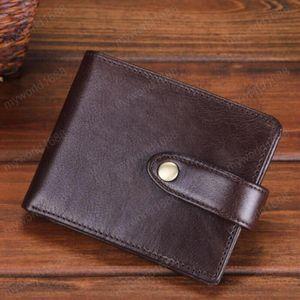 Мода Новый тонкий мини кошелек для мужчин Ultra Thin Small Hasp Button Кошельки с Driver License Holder Тонкий Короткие Портмоне