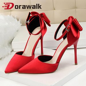 Delicados Doce bowknot sandálias de sapatos de salto Side oco Apontado Mulheres Bombas Pointed Toe 10cm Stilettos Vestido de Noiva Sapatos