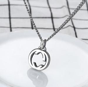 Lettera 925 catena d'argento di lusso di vendita calda Retro collana Collana Coppia Uomini e designer di gioielli pendente delle donne il trasporto libero del regalo