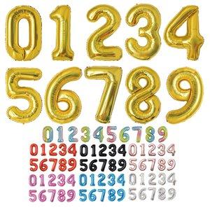 Balloon 40 Inch Oro Numero di alluminio del rivestimento palloncini Ballons compleanno decorazione Wedding Air Balloon feste GWE723