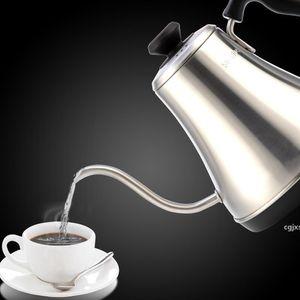 Aço inoxidável Cgjxs1000w elétrica Gooseneck bico Chaleira Auto Power -Off Calor Proteção Preservação Drip Tea Elétrica Coffee Pot T190619