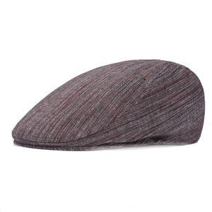 avanti berretto a punta uomini wJJdq britannici Beret berretto a visiera di mezza età cap avanti cappello maschile